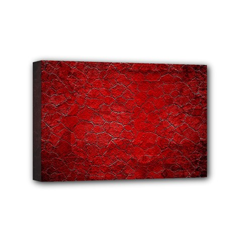 Red Grunge Texture Black Gradient Mini Canvas 6  X 4