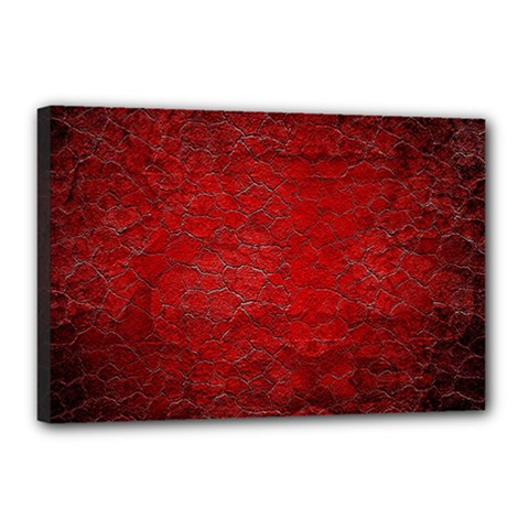 Red Grunge Texture Black Gradient Canvas 18  X 12