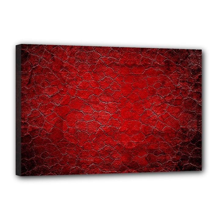 Red Grunge Texture Black Gradient Canvas 18  x 12