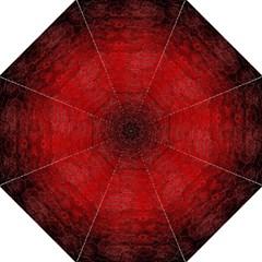 Red Grunge Texture Black Gradient Straight Umbrellas