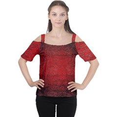 Red Grunge Texture Black Gradient Cutout Shoulder Tee