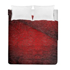 Red Grunge Texture Black Gradient Duvet Cover Double Side (full/ Double Size)