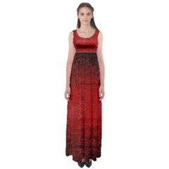 Red Grunge Texture Black Gradient Empire Waist Maxi Dress