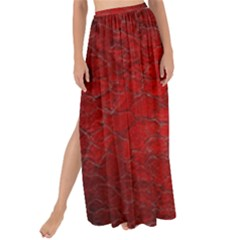 Red Grunge Texture Black Gradient Maxi Chiffon Tie Up Sarong