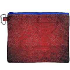Red Grunge Texture Black Gradient Canvas Cosmetic Bag (xxxl) by BangZart