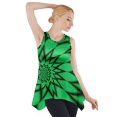 The Fourth Dimension Fractal Side Drop Tank Tunic