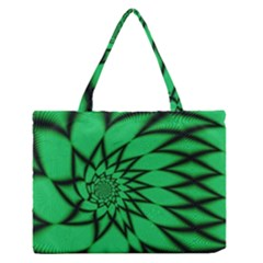 The Fourth Dimension Fractal Zipper Medium Tote Bag