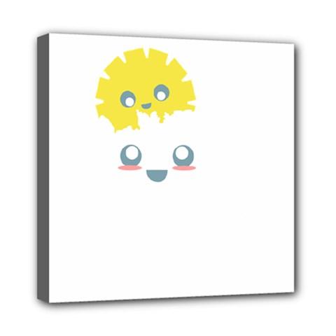 Cloud Cloudlet Sun Sky Milota Mini Canvas 8  X 8