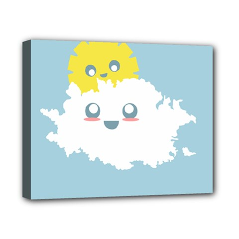 Cloud Cloudlet Sun Sky Milota Canvas 10  X 8