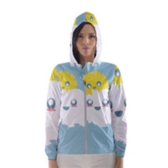 Cloud Cloudlet Sun Sky Milota Hooded Wind Breaker (women)
