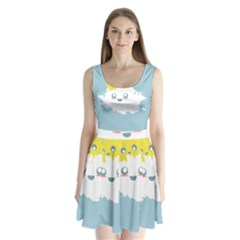 Cloud Cloudlet Sun Sky Milota Split Back Mini Dress