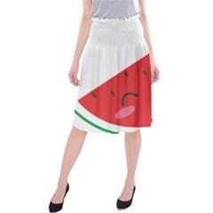 Watermelon Red Network Fruit Juicy Midi Beach Skirt