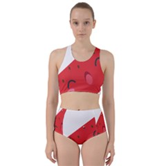 Watermelon Red Network Fruit Juicy Racer Back Bikini Set