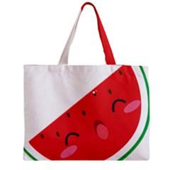 Watermelon Red Network Fruit Juicy Medium Tote Bag by BangZart