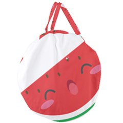 Watermelon Red Network Fruit Juicy Giant Round Zipper Tote by BangZart