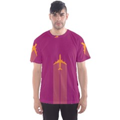Airplane Jet Yellow Flying Wings Men s Sports Mesh Tee