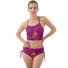 Airplane Jet Yellow Flying Wings Mini Tank Bikini Set