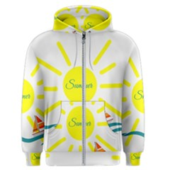 Summer Beach Holiday Holidays Sun Men s Zipper Hoodie