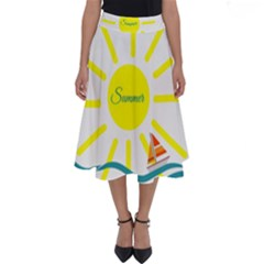 Summer Beach Holiday Holidays Sun Perfect Length Midi Skirt