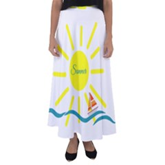 Summer Beach Holiday Holidays Sun Flared Maxi Skirt