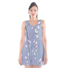 Branch Leaves Branches Plant Scoop Neck Skater Dress by BangZart