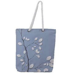 Branch Leaves Branches Plant Full Print Rope Handle Tote (large)