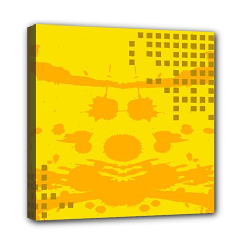 Texture Yellow Abstract Background Mini Canvas 8  X 8