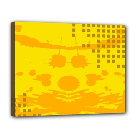 Texture Yellow Abstract Background Canvas 14  X 11