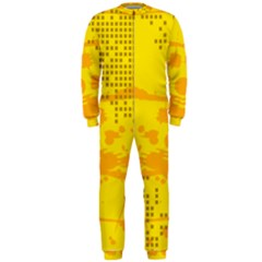 Texture Yellow Abstract Background Onepiece Jumpsuit (men)