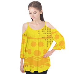 Texture Yellow Abstract Background Flutter Tees by BangZart