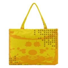 Texture Yellow Abstract Background Medium Tote Bag
