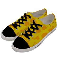 Texture Yellow Abstract Background Men s Low Top Canvas Sneakers by BangZart