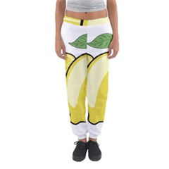 Lemon Fruit Green Yellow Citrus Women s Jogger Sweatpants