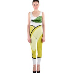 Lemon Fruit Green Yellow Citrus Onepiece Catsuit by BangZart
