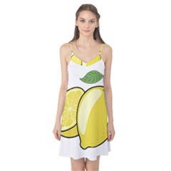 Lemon Fruit Green Yellow Citrus Camis Nightgown