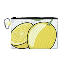 Lemon Fruit Green Yellow Citrus Canvas Cosmetic Bag (medium) by BangZart