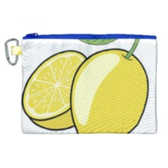 Lemon Fruit Green Yellow Citrus Canvas Cosmetic Bag (xl) by BangZart