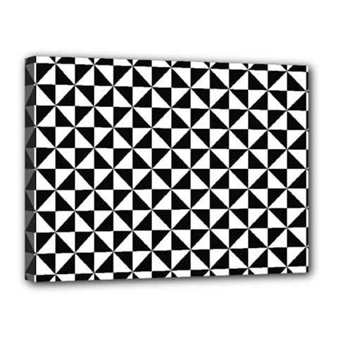 Triangle Pattern Simple Triangular Canvas 16  X 12