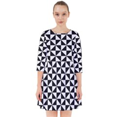 Triangle Pattern Simple Triangular Smock Dress