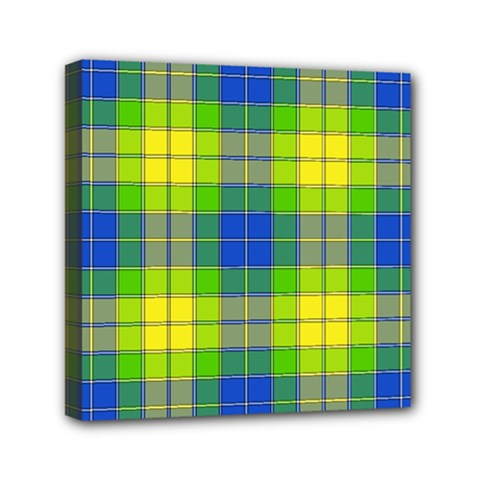 Spring Plaid Yellow Blue And Green Canvas Travel Bag