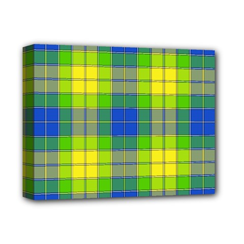 Spring Plaid Yellow Blue And Green Deluxe Canvas 14  X 11  by BangZart