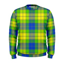 Spring Plaid Yellow Blue And Green Men s Sweatshirt