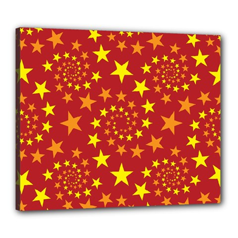 Star Stars Pattern Design Canvas 24  X 20