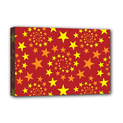 Star Stars Pattern Design Deluxe Canvas 18  X 12   by BangZart