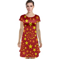 Star Stars Pattern Design Cap Sleeve Nightdress