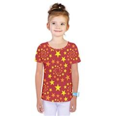 Star Stars Pattern Design Kids  One Piece Tee