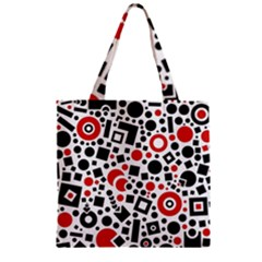 Square Objects Future Modern Zipper Grocery Tote Bag by BangZart