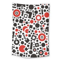 Square Objects Future Modern Large Tapestry