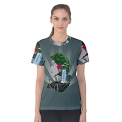 Digital Nature Beauty Women s Cotton Tee