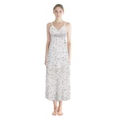 Pattern Star Pattern Star Button Up Chiffon Maxi Dress